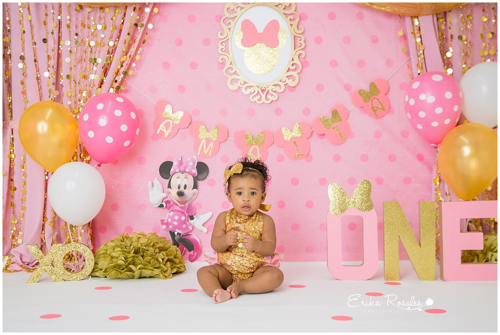 Minnie Mouse Smash Cake Theme Pink And Color The Bronx
