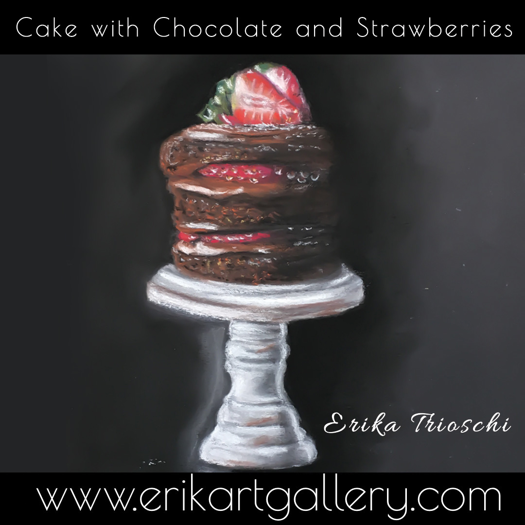 www.erikartgallery.com - Cake with Chocolate and Strawberry