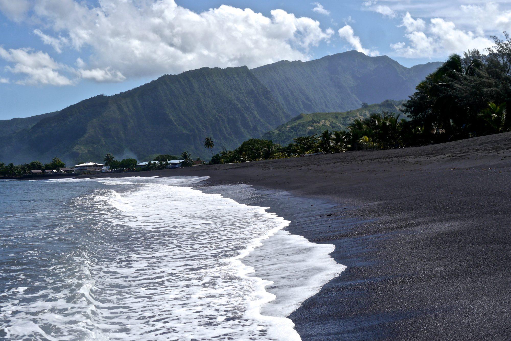 Driving Around Tahiti--Black Sand Beaches