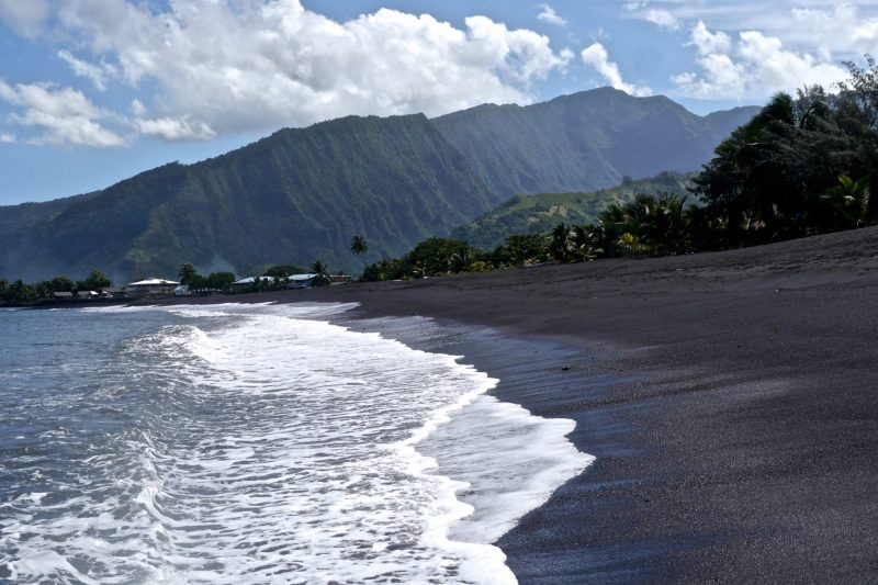 Driving Around Tahiti--Black Sand Beaches
