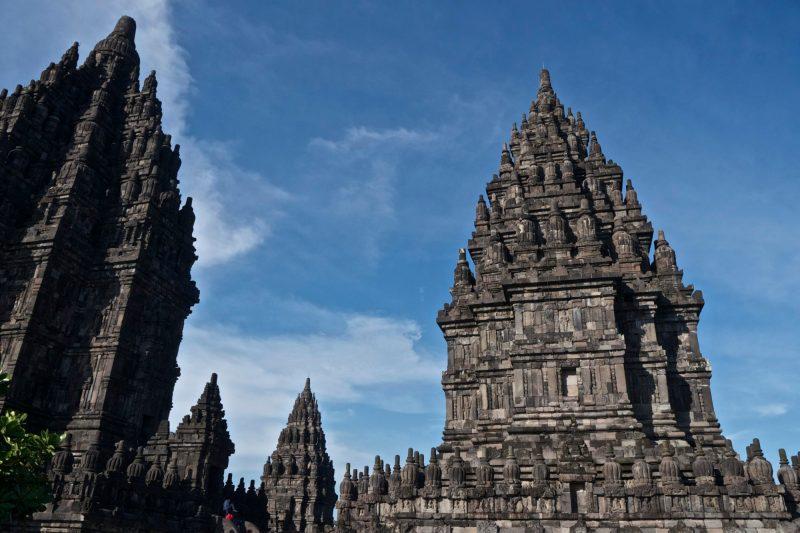 Borobudur and Prambnan--Prambanan