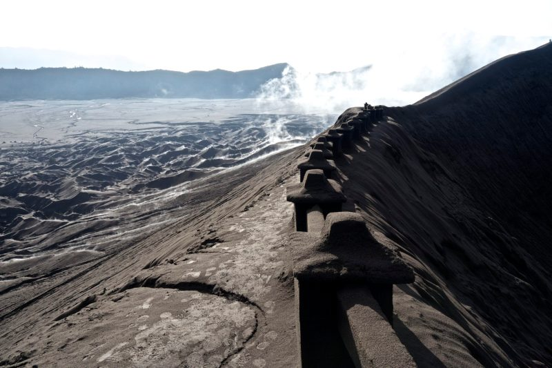 At the Rim of the Mt Bromo Volcano