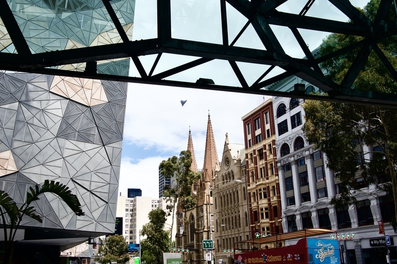 Buildings at Federation Square in Melbourne