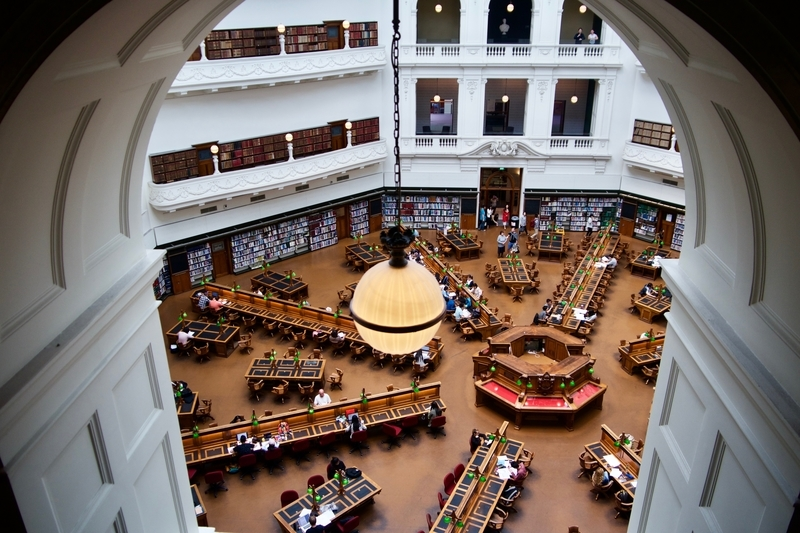 Victoria State Library in Melbourne