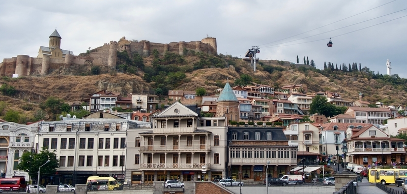 Visiting the Narikala Fortress during our two days in Tbilisi