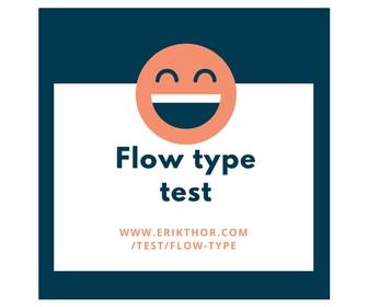 Flow type test