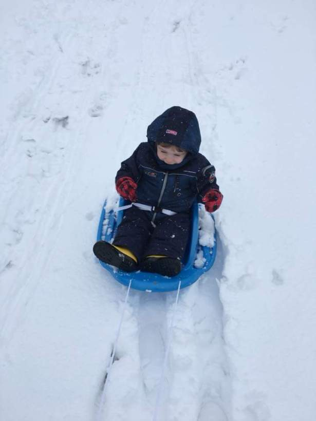 Snow fun March 7 2018