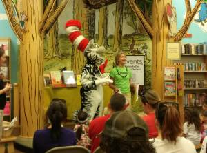 Erin and Cat in the Hat