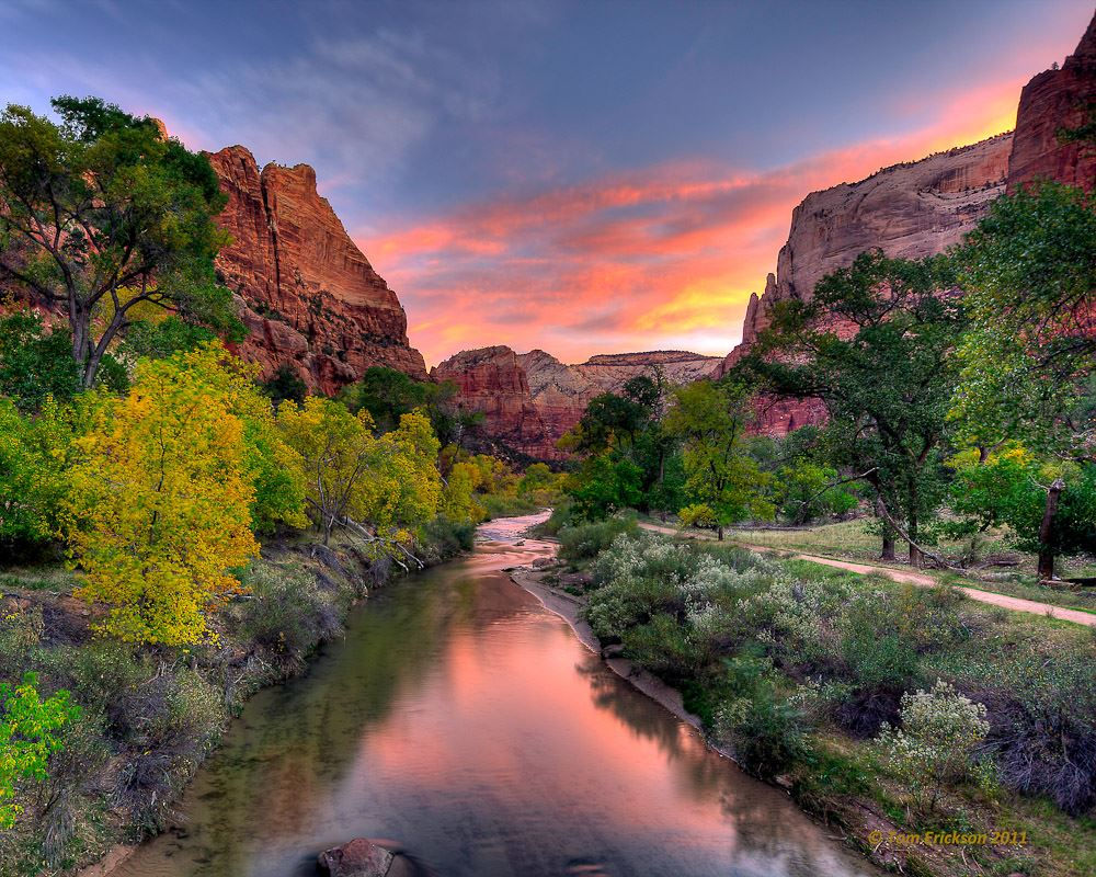 National Geographic Wallpaper Fall Foliage The Inspiration Of Zion National Park Erin Hanson S Blog