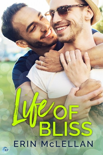 Life of Bliss cover with two men embracing