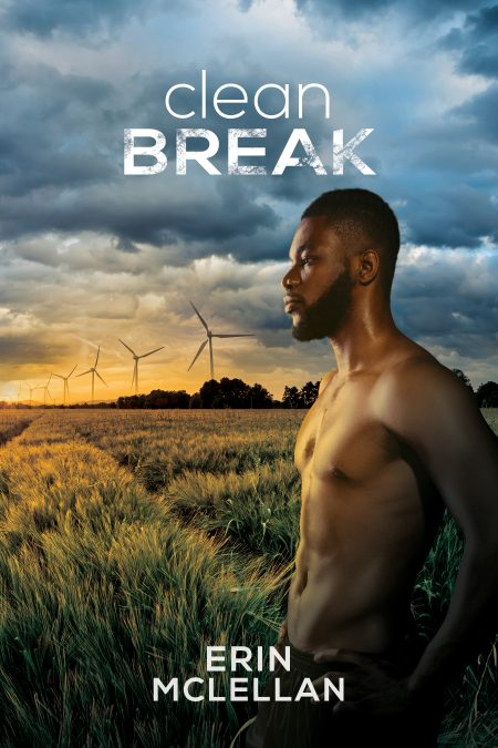 Cover of Clean Break by Erin McLellan. Handsome African American man in front of a sunset