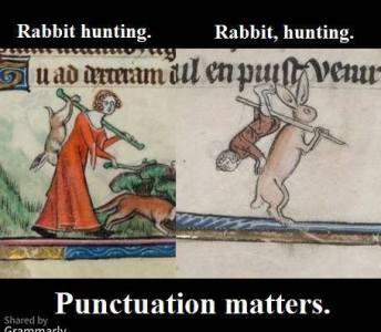 Medieval Manuscript - Rabbit hunting. Rabbit, hunting.