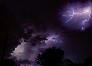Lightning Dual Stock Photo