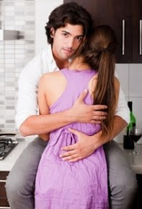 Stock Art of Man Holding Woman
