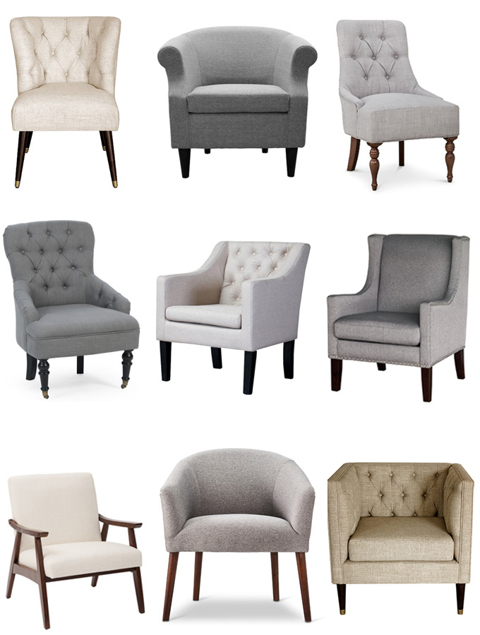 cheap accent chair desk antique the best sources for affordable neutral chairs erin spain