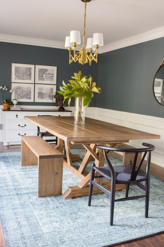 farmhouse table and chairs with bench wheelchair hire bali modern dining benches erin spain i m in love this diy plus
