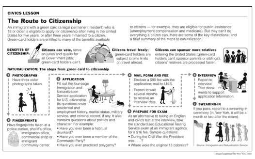 Citizenship process map