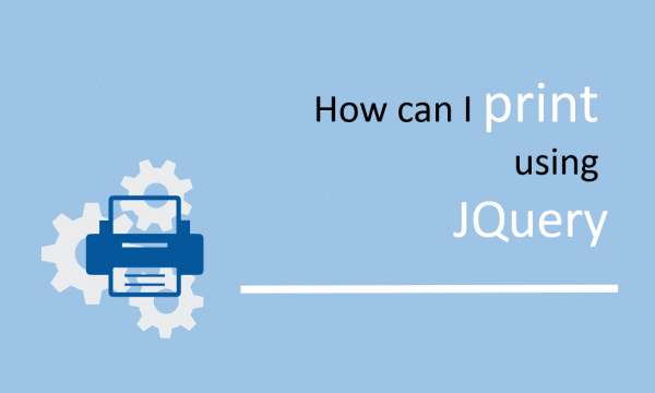 How can I print using JQuery