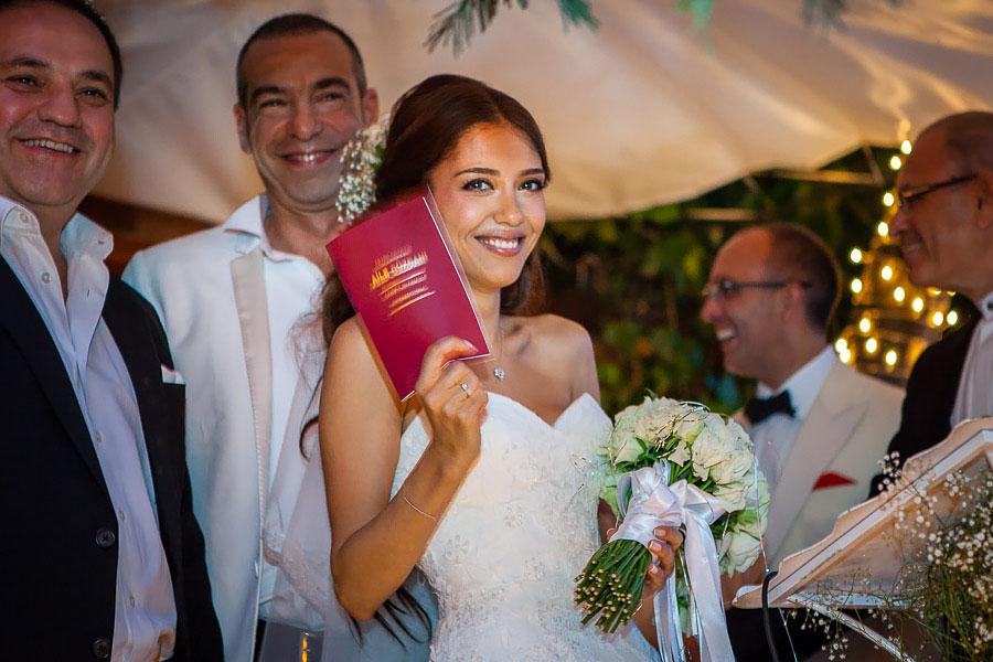 Turkish wedding ceremony at backyard