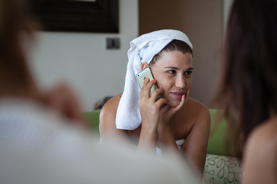 casa costa Bodrum Wedding bride getting ready