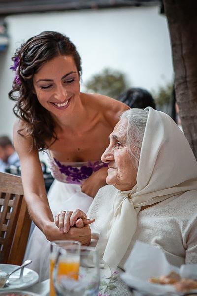 Bride and grandmother at Giritli restaurant engagement