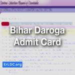 Bihar Daroga Admit card