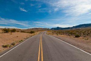 Road in the desert of Nevada,