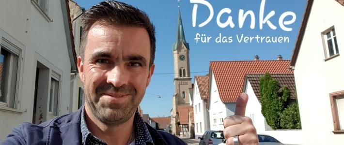 Maik Wünstel wurde zum Bürgermeister von Erlenbach gewählt