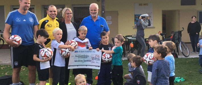VR Bank Südpfalz eG und Südwestdeutscher Fußballverband e. V. unterstützen Jugendarbeit des SV Erlenbach