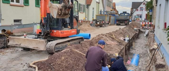 Aktueller Situationsbericht auf und neben der Baustelle unserer Ortsdurchfahrtstraße