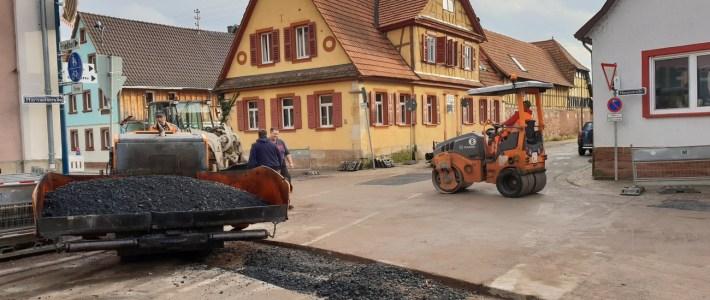 Asphaltarbeiten wurden durchgeführt – 1. Bauabschnitt fast abgeschlossen