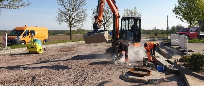 Vorbereitungen zum asphaltieren des Bauabschnitt 2 fast abgeschlossen