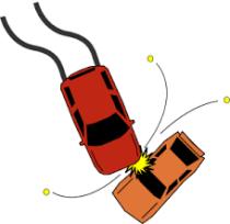 Auto's botsen op Oude Rijksweg