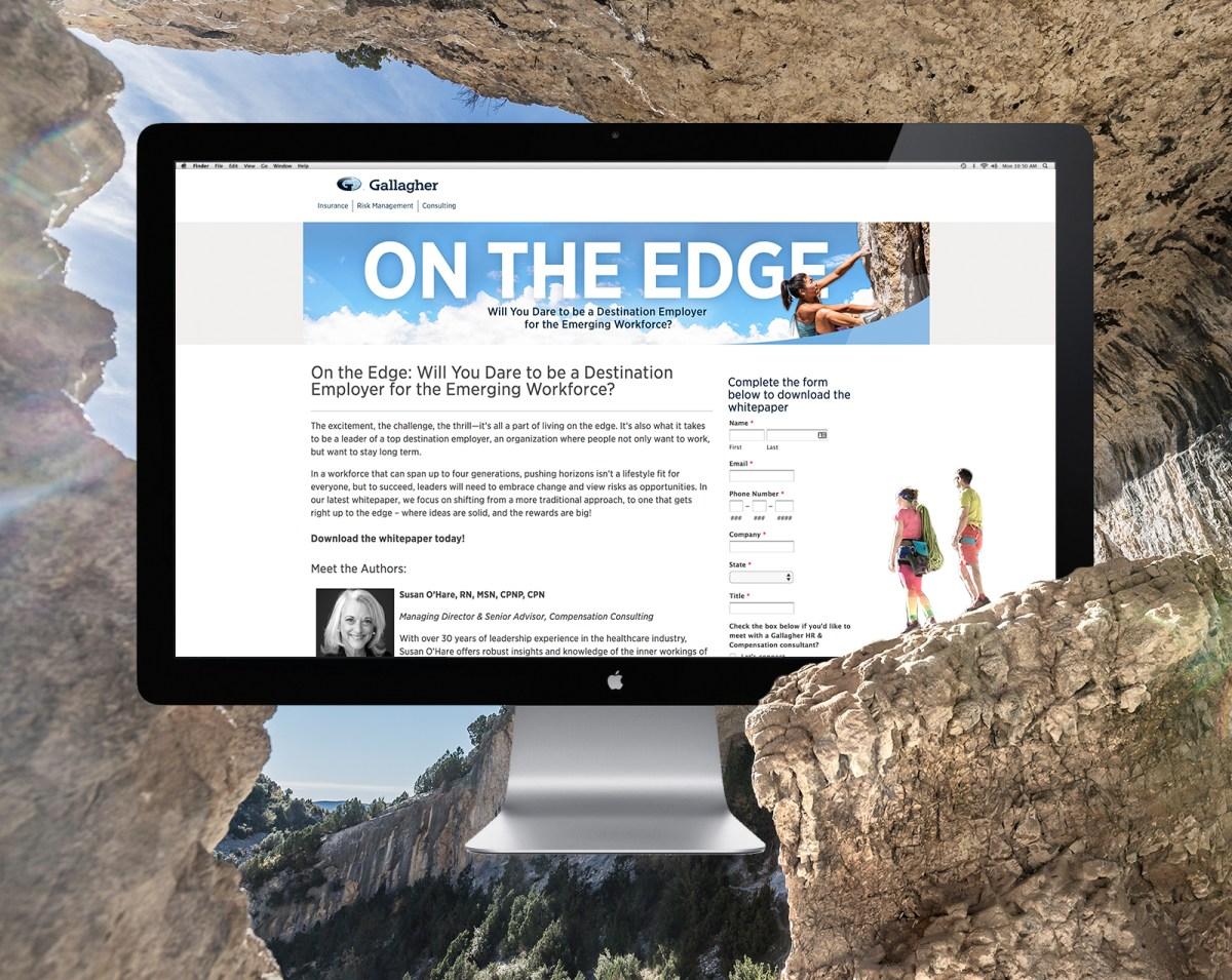 desktop mockup on mountain background