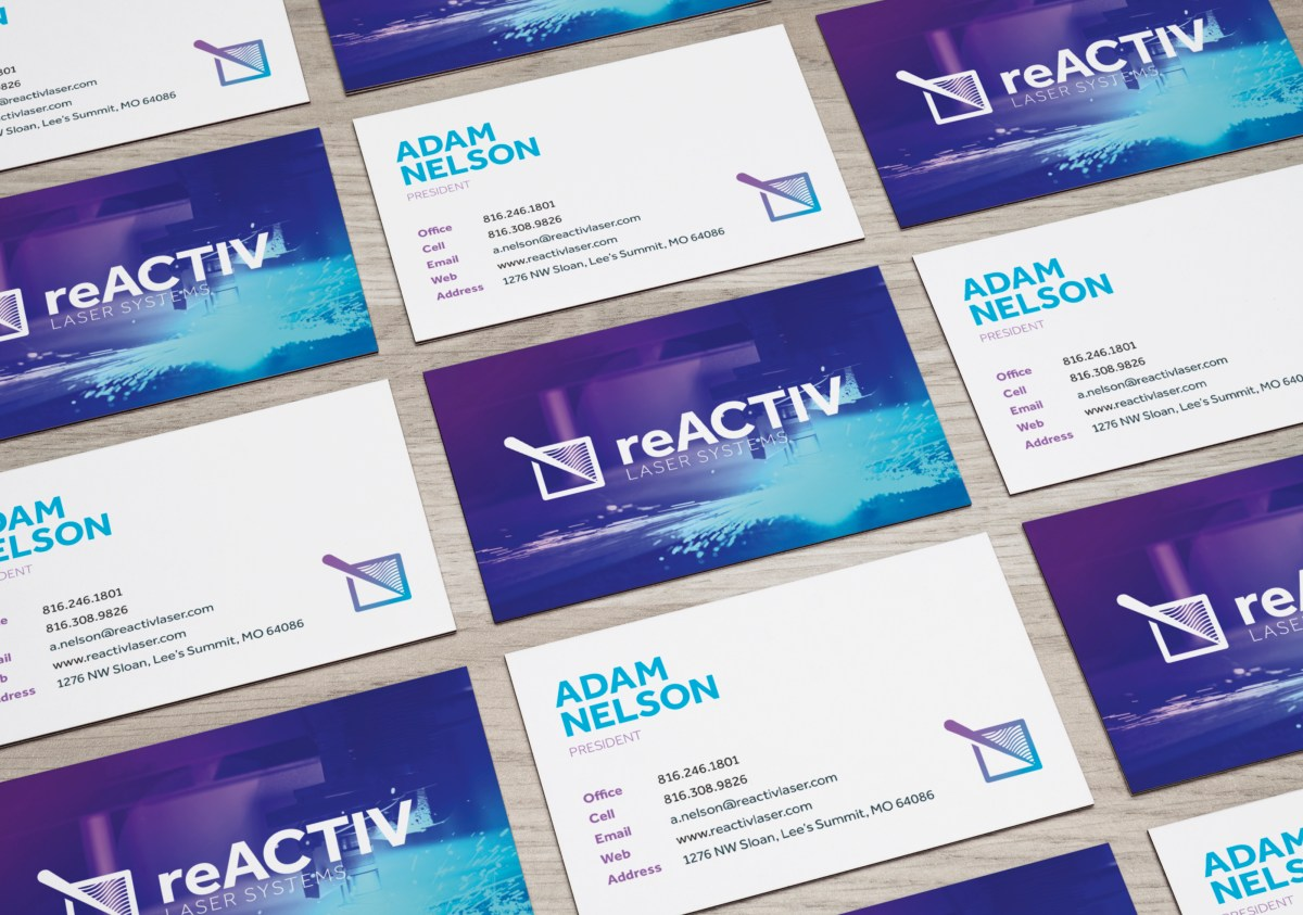 reactiv lasers business cards