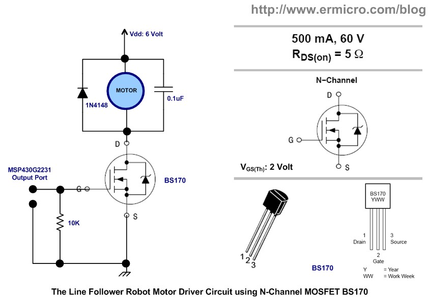 2 transistor line follower robot