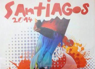 «Salpícate de fiesta» cartel ganador de los Santiagos 2014
