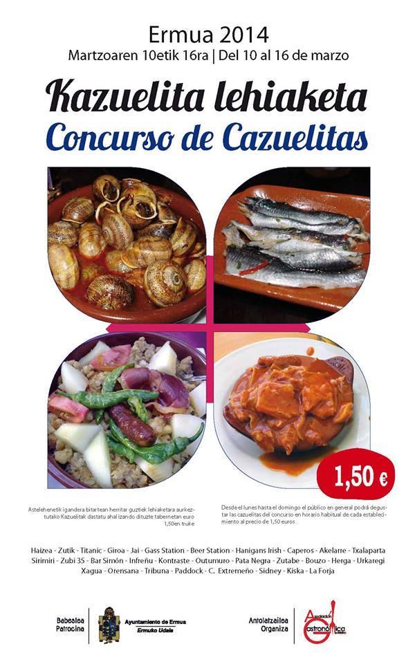Ermua celebra del 10 al 16 de marzo la 3ª edición del concurso de cazuelitas