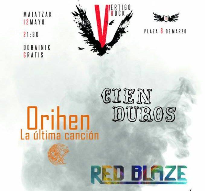 Orihen, Cien Duros y Red Blaze en el Pre-Vertigo Rock