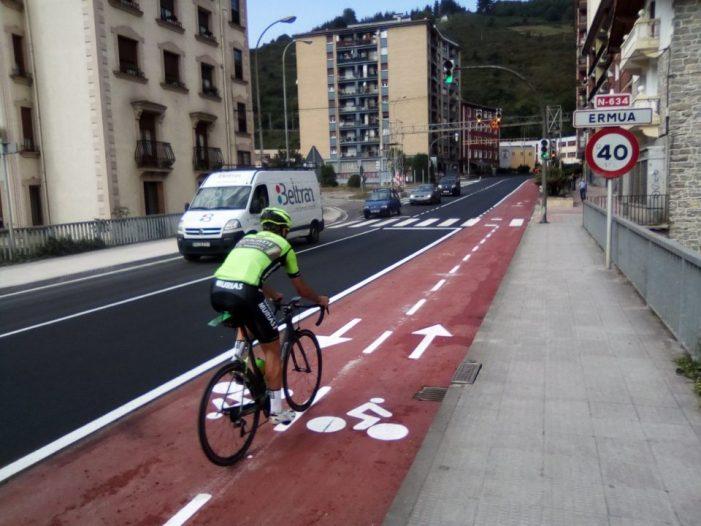 Ermua creará carriles para bicicletas