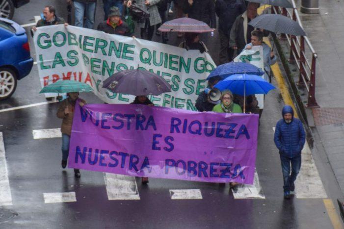 Un año de movilizaciones en Ermua por unas pensiones dignas