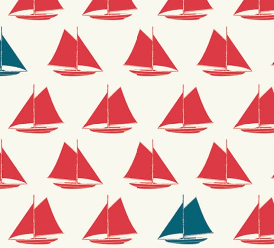 Sailboats Apple Set Sail Birch Fabrics Boxershorts Stoff