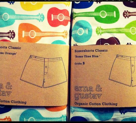 Bossa Ukes Birch Fabrics Boxershorts von erna und gustav