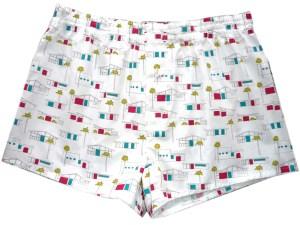 Boxershorts Birch Fabrics Houses fifties Print