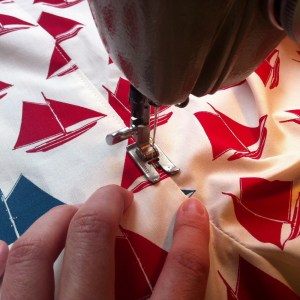 Boxershorts Brich Fabrics Set Sail Red Produktion