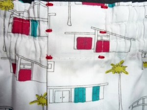 Boxershorts Birch Fabrics Houses 50'ties Verschlussriegel
