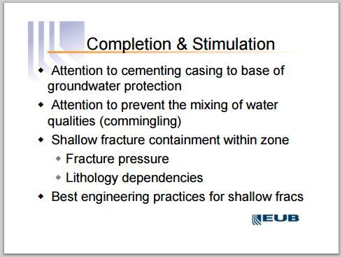 2004 05 12 AER, then EUB, Manager Jim Reid presentation on high risk shallow frac operations 5