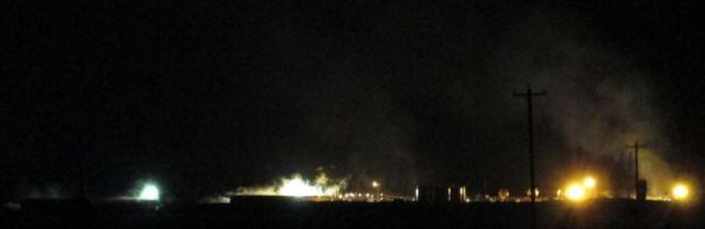 2012 night frac in Alberta, hold your breath, all night long
