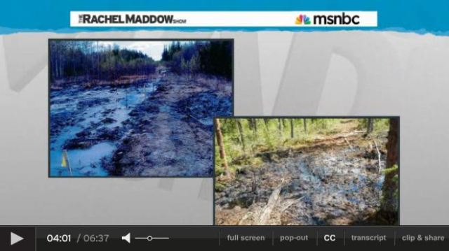 2013 07 24 Rachel Maddow on Primose bitumen blowout in Canada snap 5