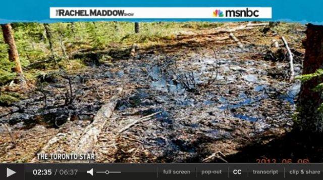 2013 07 24 Rachel Maddow on Primose bitumen blowout in Canada